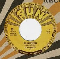 ELVIS PRESLEY My Happiness Vinyl Record 7 Inch Sun 2015